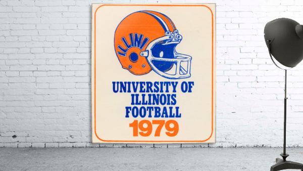 1979 illinois football helmet art