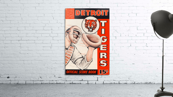 1963 detroit tigers baseball score book canvas art