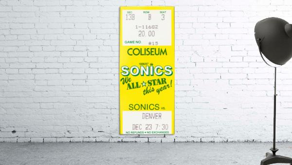 1986 seattle supersonics ticket stub canvas art