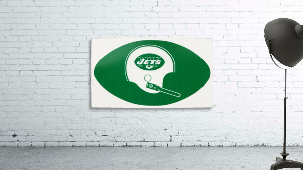 1960s new york jets helmet wall art