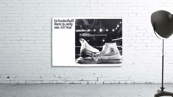 1968 converse all star shoe ad reproduction wall art