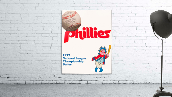 1977 philadelphia phillies national league championship series poster