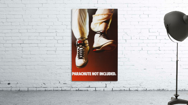 1987 nike air jordan ad poster parachute not included reproduction art