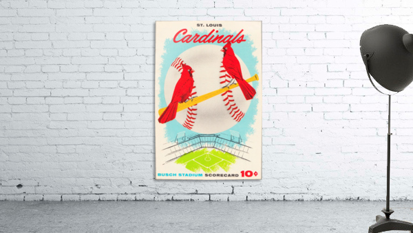 1957 st louis cardinals baseball score card wall art