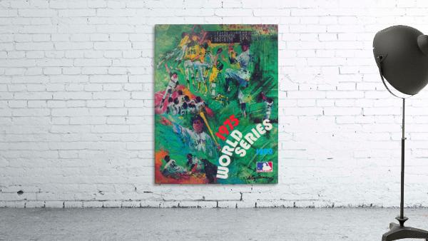 1975 world series program cover leroy neiman wall art
