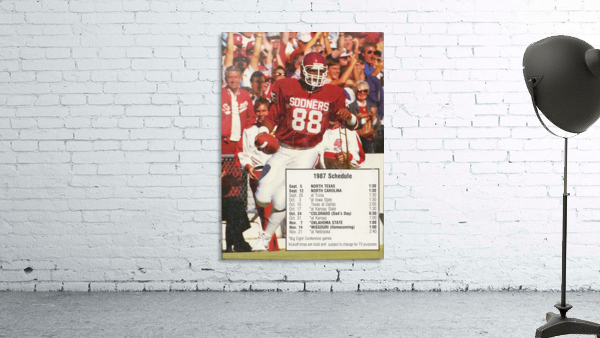 1987 oklahoma sooners football schedule poster