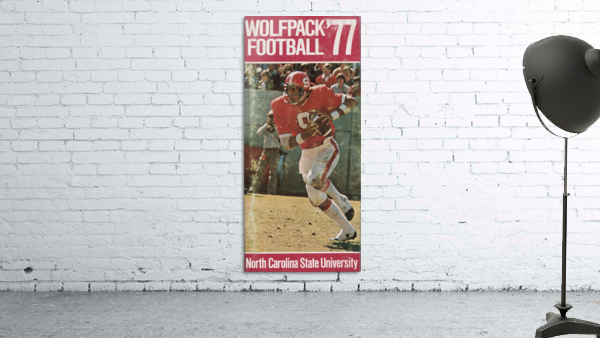 1977 nc state wolfpack retro college football poster johnny evans qb