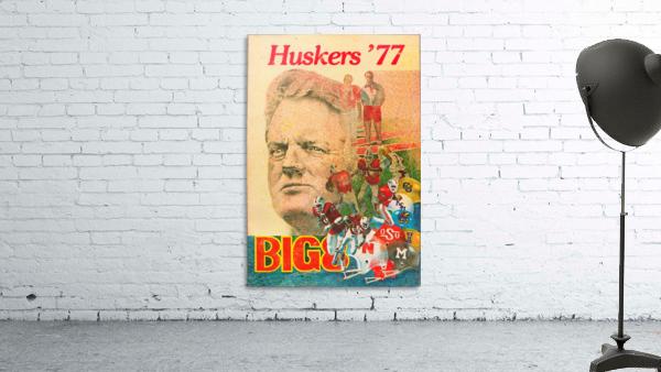 1977 nebraska cornhuskers tom osborne big 8 college football poster