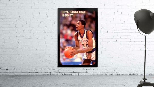 1986 georgetown hoyas basketball reggie williams poster