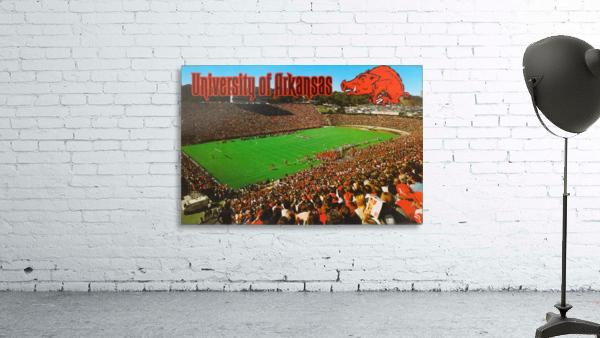 retro arkansas razorbacks football fayetteville razorback stadium photo