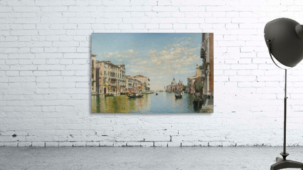 Gondoliers on The Grand Canal in Venice