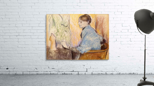Mme Henri Rouart before a  statue by Degas