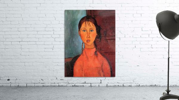 Modigliani - Girl with plaits