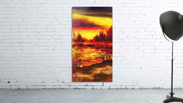 Bright Sunset At The Lake