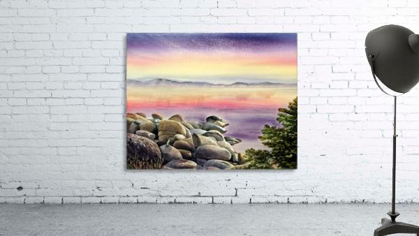 Purple Sunset At The Lake