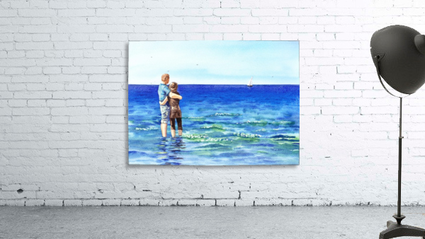 Couple And The Sea