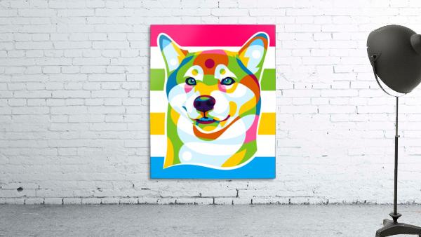Shiba Inu Colorful Dog