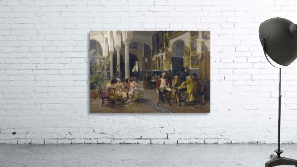 Conversation in a Sevillian courtyard