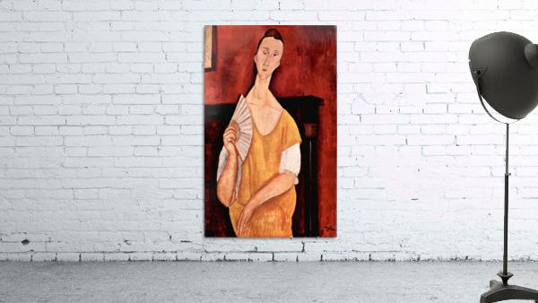 Modigliani - Portrait of Lunia Czechowska with fan