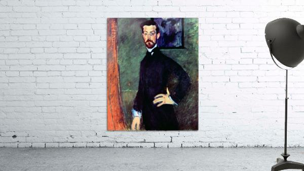 Modigliani - Portrait of Paul Alexanders before a green background