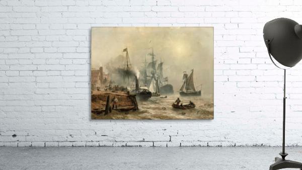 Boats in fog