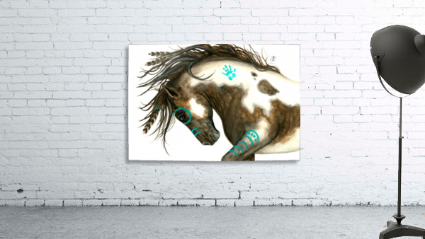 Pinto Horse Turquoise