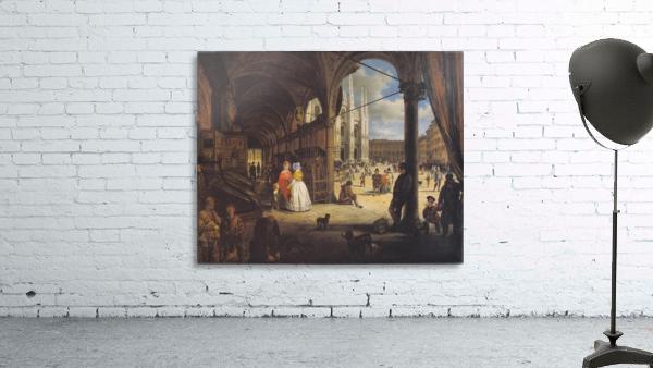 Veduta della piazza del Duomo dal Coperto dei Figini