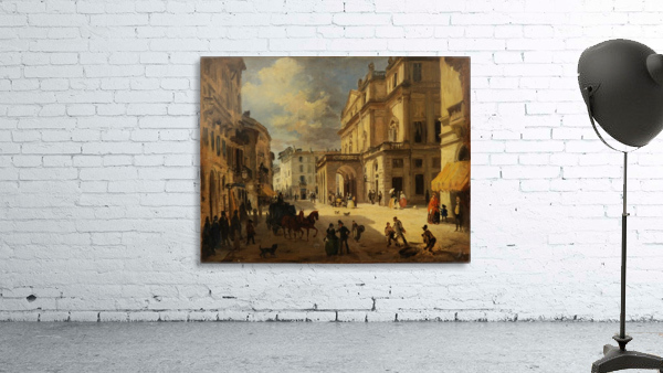View of the Teatro alla Scala from Giardino lane