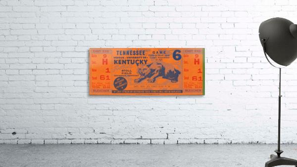 Vintage Kentucky Wildcats Football Ticket Art