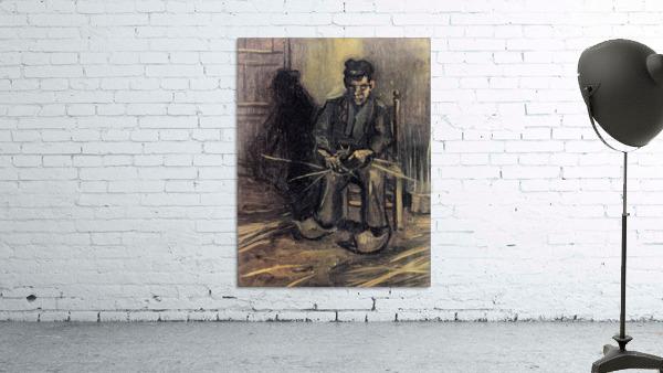 Peasant Making a Basket by Van Gogh