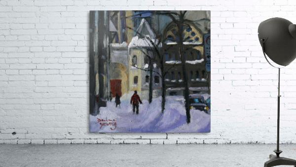 Montreal Downtown Scene, Drummond Winter