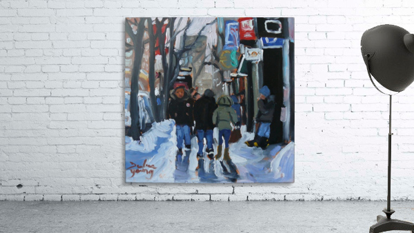 Montrel winter Scene, Ste-Catherine