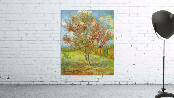 Pink Peach Tree in Blossom Reminiscence of Mauve by Van Gogh