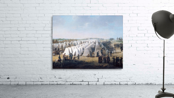 Army Camp in Rows 1831