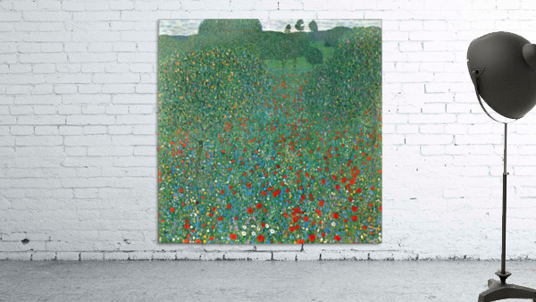 Poppy Field by Klimt
