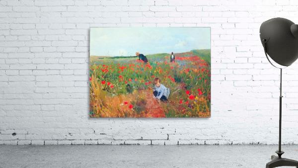 Poppy in the field by Cassatt