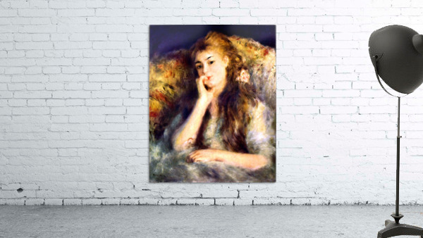 Portrait of a girl in thoughts by Renoir