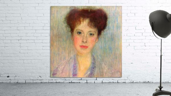 Portrait of Gertha Fersovanyi (detail) by Klimt