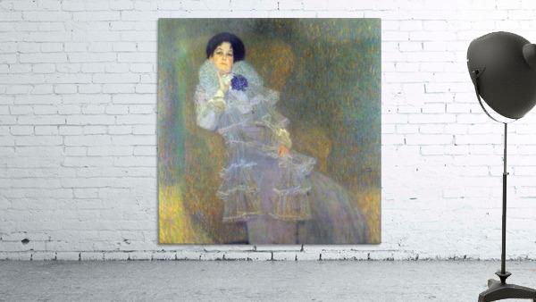 Portrait of Marie Henneberg (portrait in purple) by Klimt
