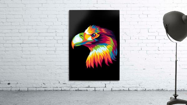 Bird of Prey in Colorful Pop Art Illustration