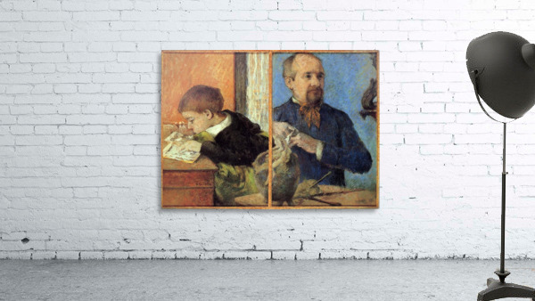 Portrait of Sculptor with Son by Gauguin