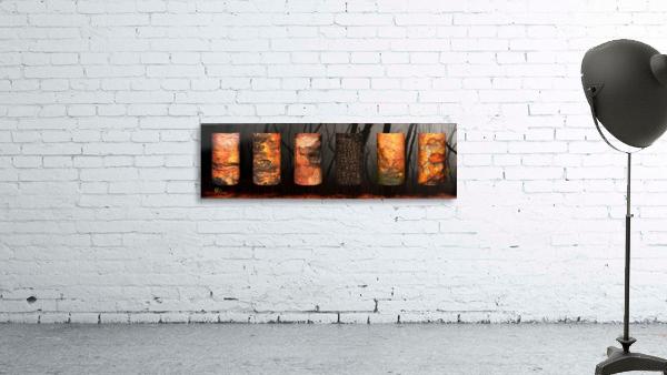 tree bark aBlaze