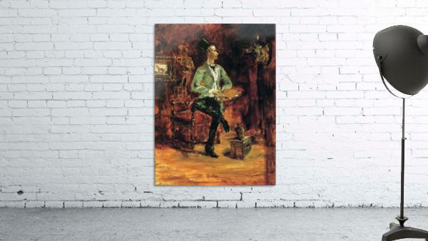 Princeteau in his studio by Toulouse-Lautrec