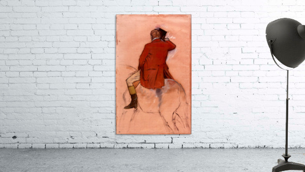 Rider with red jacket by Degas