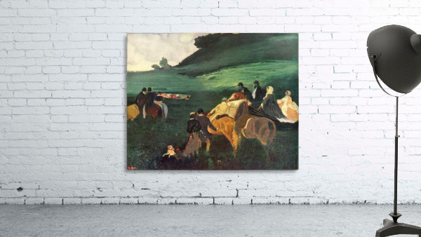 Riders in the  landscape by Degas