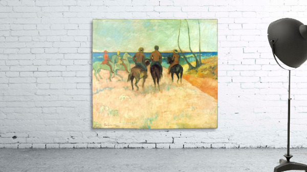 Riding on the Beach 2 by Gauguin