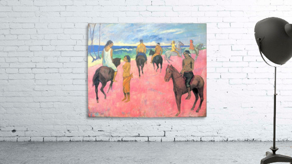 Riding on the beach by Gauguin