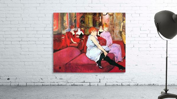 Salon in the Rue de Moulins by Toulouse-Lautrec