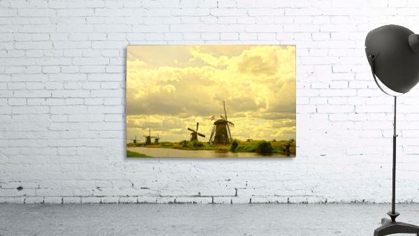 Windmills at Sunset - Netherlands