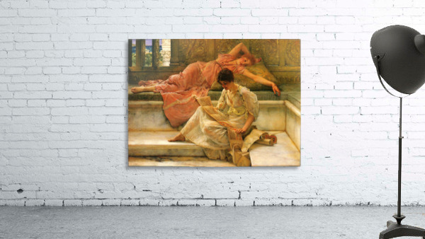 A favorite poet by Alma-Tadema